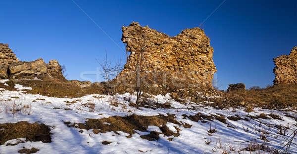 Fortezza rovine frazione costruzione muro natura Foto d'archivio © avq
