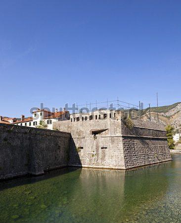 Twierdza ściany miasta niebo wody budynku Zdjęcia stock © avq