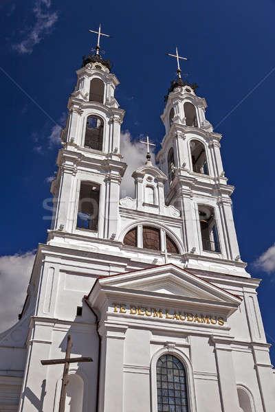 Católico iglesia Bielorrusia cruz ventana Foto stock © avq