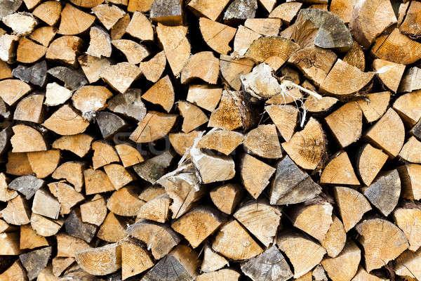 Tűzifa közelkép természet háttér csoport szín Stock fotó © avq