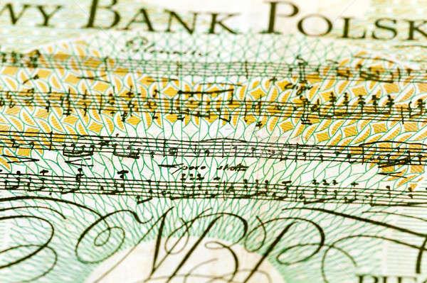 Notlar eski para kâğıt sanat Stok fotoğraf © avq
