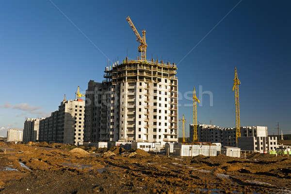 construction of the new house   Stock photo © avq