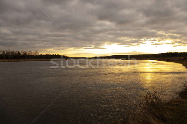 Dawn on the lake   Stock photo © avq