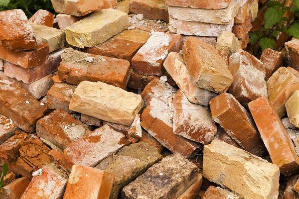 古い レンガ 破壊 古代 建物 中古 ストックフォト © avq