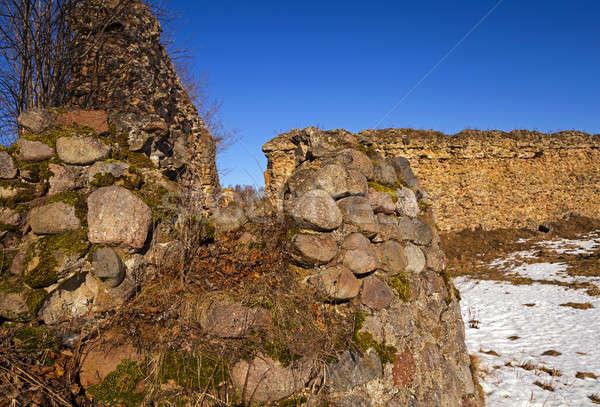 Twierdza ruiny w. budynku ściany charakter Zdjęcia stock © avq