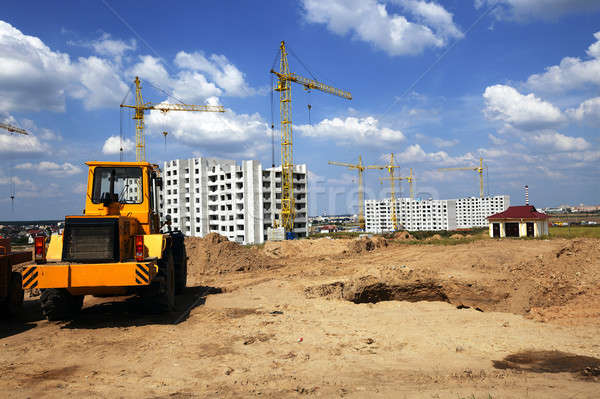 Construction nouvelle maison réalisée Photo stock © avq