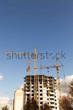 Construção novo casa transportado Foto stock © avq