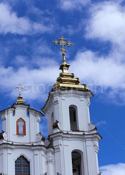 Photo stock: Orthodoxe · église · république · Belarus · croix