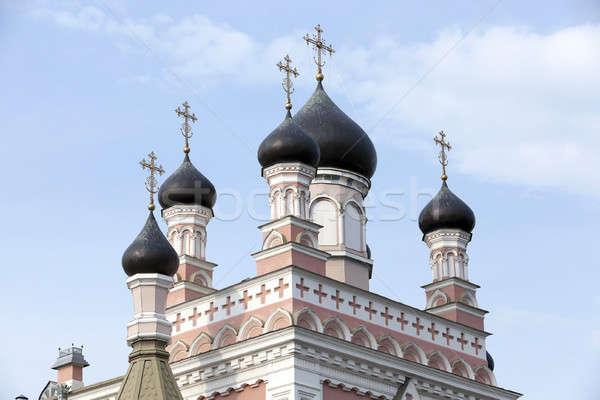 Ortodoxo iglesia Bielorrusia primer plano cruz urbanas Foto stock © avq