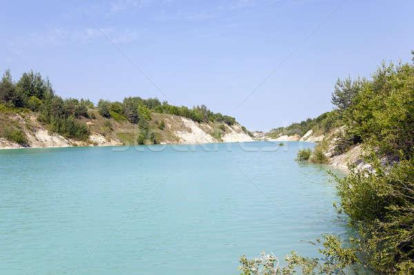 人工的な 湖 水 春 自然 青 ストックフォト © avq