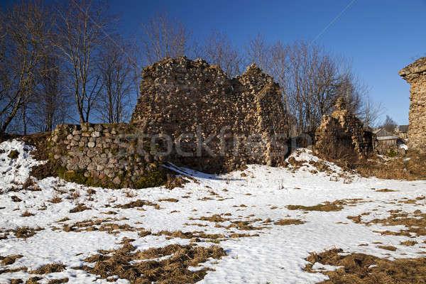 крепость руин фото зданий время замок Сток-фото © avq