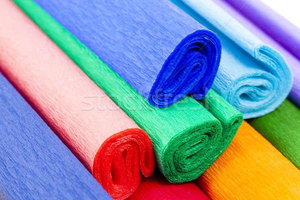 Crepe papel construção verde azul Foto stock © avq