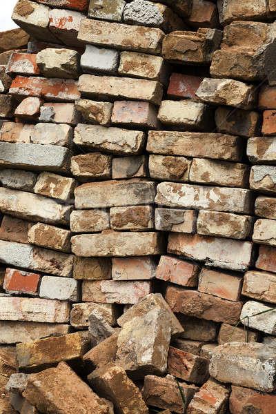 Starych cegieł zniszczenia starożytnych budynku używany Zdjęcia stock © avq