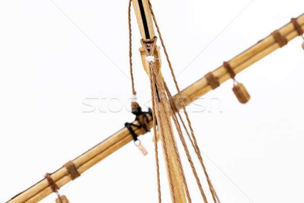 Stok fotoğraf: Gemi · model · ağaç · tekne · oyuncak
