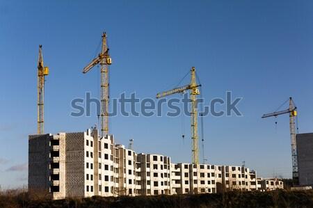 építkezés új ház építkezés új ház hordott Stock fotó © avq