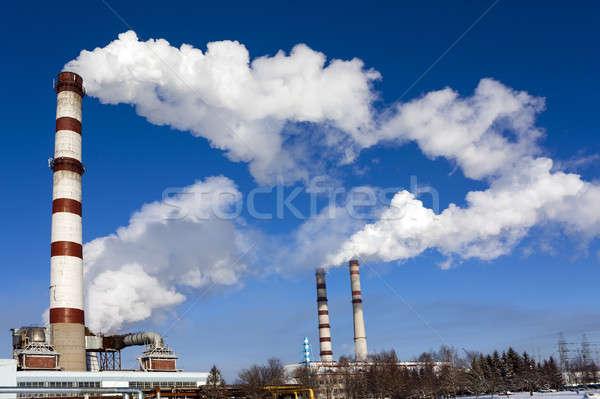 çalışma bitki kış sezonu Belarus gökyüzü Bina Stok fotoğraf © avq