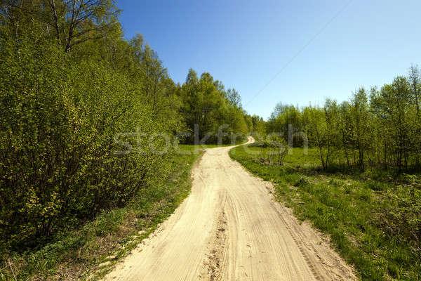 Estrada de terra estrada não coberto asfalto Foto stock © avq