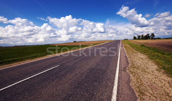 Weg landelijk business hemel landschap veld Stockfoto © avq