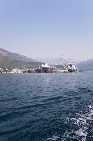 cargo ships. Montenegro Stock photo © avq