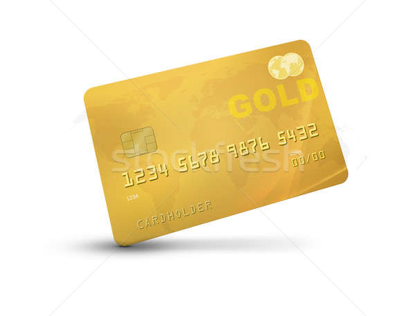Gold Credit Card Stock photo © axstokes