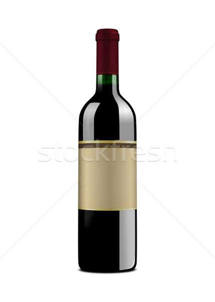 şarap şişesi şişe bağbozumu etiket yalıtılmış Stok fotoğraf © axstokes