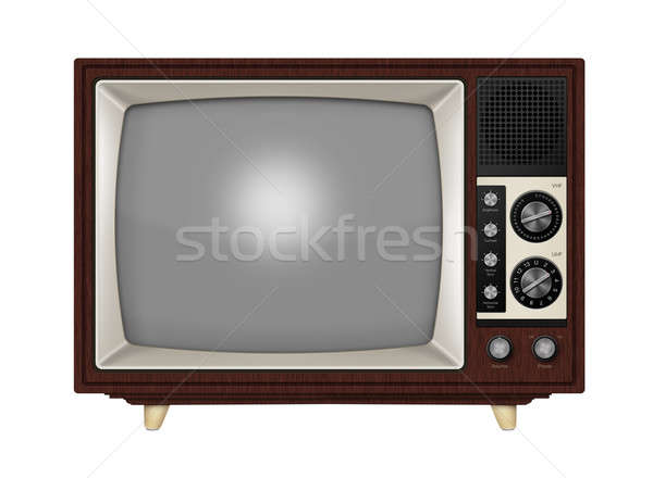Retro Television Stock photo © axstokes