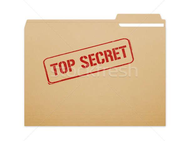 Haut secret dossier brun fichier papier Photo stock © axstokes