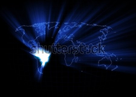 World Map - Spain Stock photo © axstokes