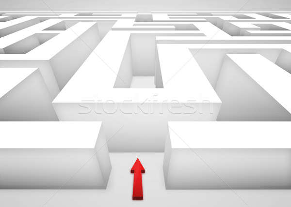 3D Maze Stock photo © axstokes