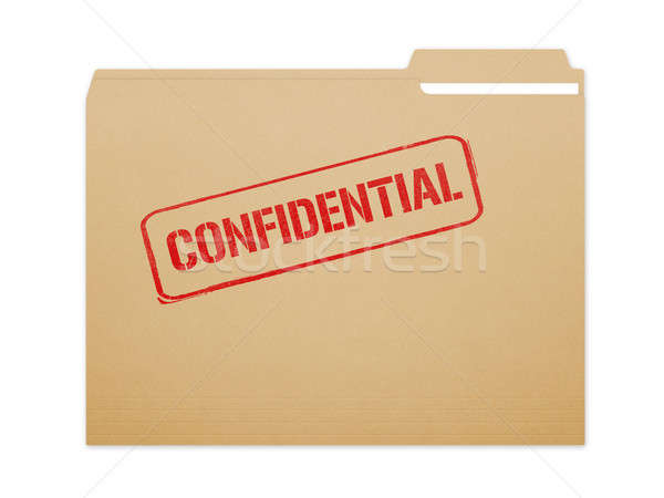 Confidential Folder Stock photo © axstokes