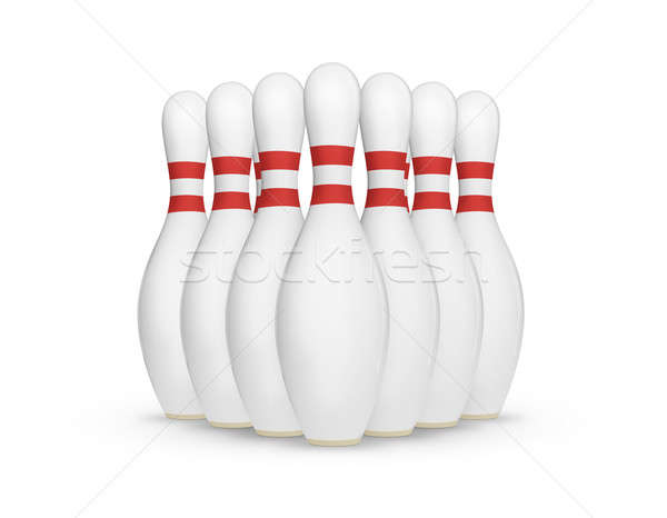 Bowling Pins Stock photo © axstokes
