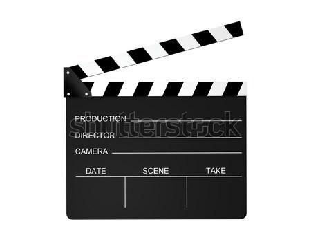 фильма изолированный белый черный директор производства Сток-фото © axstokes