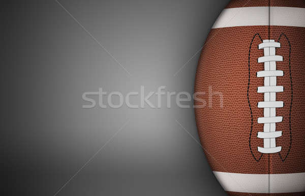 American Football Ball on Gray Stock photo © axstokes
