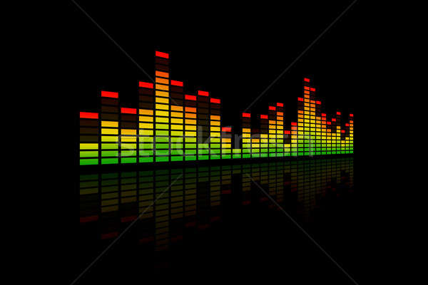 3D Music Equalizer Bars Stock photo © axstokes