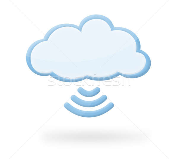 Cloud Wireless Icon Stock photo © axstokes