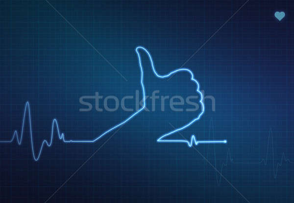 Thumbs Up Healthy Heart Stock photo © axstokes