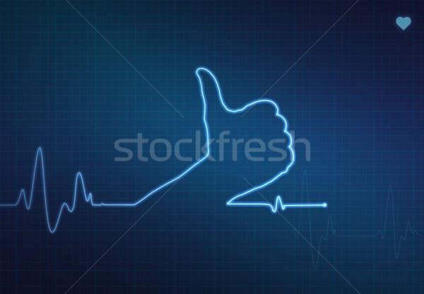Remek egészséges szív alakú orvosi szív monitor Stock fotó © axstokes