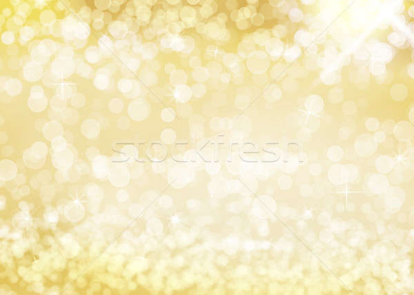 Gold Background with Stars Stock photo © axstokes