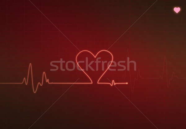 Kritikus szív állapot orvosi monitor elektrokardiogram Stock fotó © axstokes