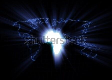 Dünya haritası Brezilya siyah dünya teknoloji Stok fotoğraf © axstokes