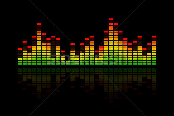 Music Equalizer Bars Stock photo © axstokes