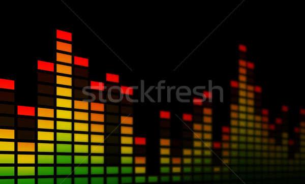 Musique égaliseur bars électronique battement Photo stock © axstokes
