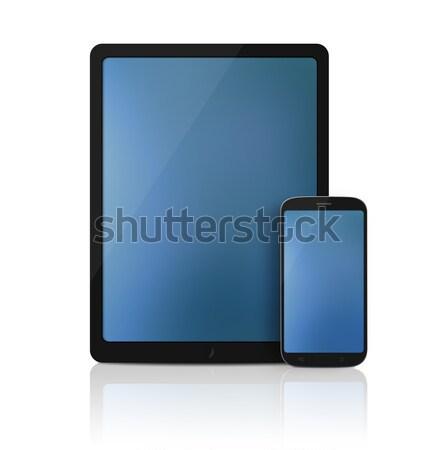 Hareketli Internet modern tablet Stok fotoğraf © axstokes