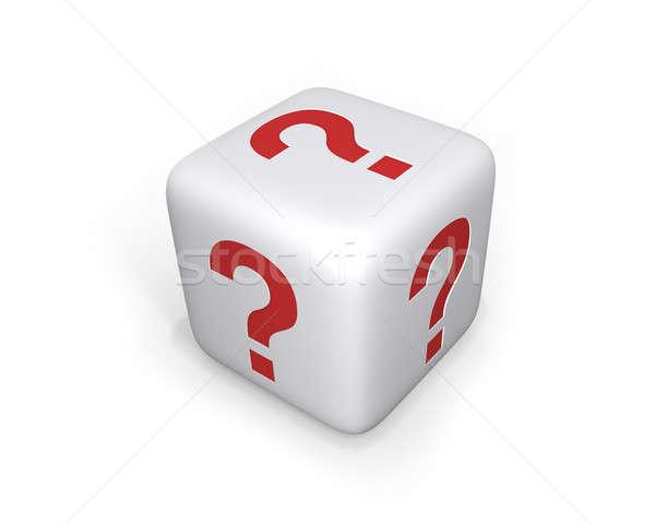 Signo de interrogación dados blanco signos de interrogación todo digital Foto stock © axstokes