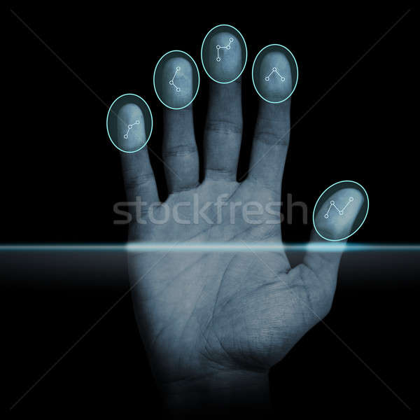 Fingerprint Scanner Stock photo © axstokes