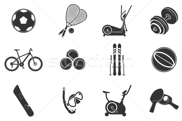 Stock photo: Sport equipment symbols