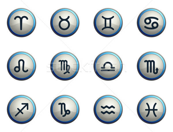 Zodiac icon set Stock photo © ayaxmr