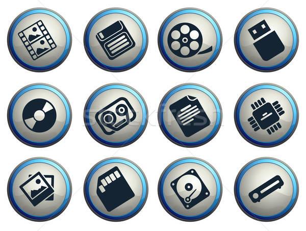 Gegevens analytisch eenvoudig iconen web Stockfoto © ayaxmr