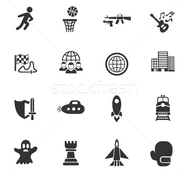 game genre icon set Stock photo © ayaxmr
