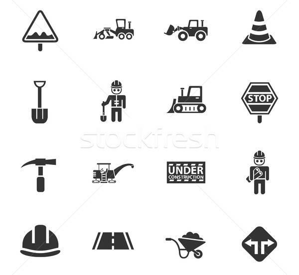 road repairs icon set Stock photo © ayaxmr